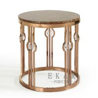 Buy cheap Heated Mental Gold Side Table Living Room Furniture from wholesalers