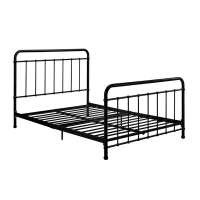 Cheap Adjustable Furniture Metal Odm Black Iron Bed Single Layer Pipe Frame Reject Formaldehyde for sale
