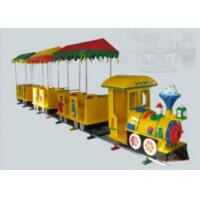 Cheap Yellow Color Amusement Toy Kids Ride On Train With Track 1 Year Warranty Period for sale