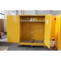 Cheap 1.0mm galvanized Steel Horizontal Inflammable Flammable Storage Cabinet 2 Manual Close Doors Chemical Liquid for sale
