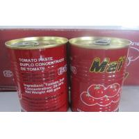 Cheap HALAL CERTIFICATE health food canned tomato sauce/ tin can packing tomato paste 140g brix 28-30% for sale