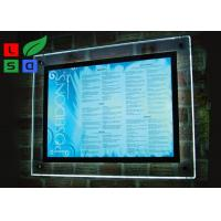 Cheap Indoor Wall Mounting Crystal Light Box Stand Thickness 8mm Acrylic Frame Sign for sale