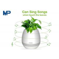 Cheap IP68 Waterproof Small Bluetooth Speakers Smart Touch Music Flower ABS Plastic Vase for sale