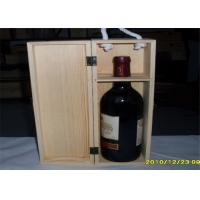 Engraved Wooden Wine Storage Boxes Smooth Finish For Convenient Carrying