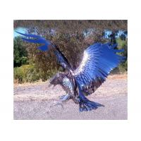 Cheap Garden / Indoor Decoration Stainless Steel Eagle Sculpture / Eagle Statue for sale