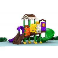 Cheap Safety Kids Plastic Playground Equipment With 1.5 Meter Height Slide And Barriers for sale
