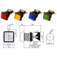 Cheap Arcade square Push button with switch and lamp 35x35mm for sale