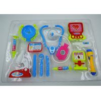 Cheap Role Play Medical Kit Playset Doctor Set Toys For Kids Pink Blue Colors 13 Pcs for sale