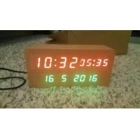 Cheap wood alarm azan clock quran speaker on table clock inside 8GB TF card English languages with IR control for sale