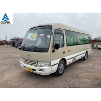 Cheap 20 Seats Mini Toyota Used Coaster Bus With 2TR Gasoline Engine for sale
