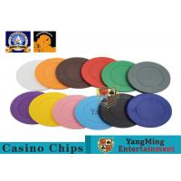 Cheap Lightweight ABS Hotstamping Logo Dice Poker Chip / Colorful Roulette Poker Chips for sale