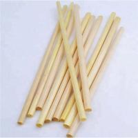 Cheap compostable straw 20cm 22cm yellow color eco friendly straw biodegradable wheat drinking straw for sale