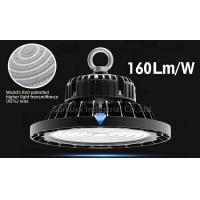 Cheap 3 In 1 Dimmable UFO High Bay Warehouse Lighting Fixture With Black Color Shell for sale