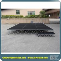 Carpet portable stage for indoor wedding party or speech events meeting or trade show events foldable risers stage Manufactures