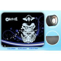 Cool Printed Rubber Mouse Pad With Fabric Smooth Surface 210x180mm