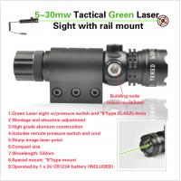 Cheap 5-35mw Shooting Rifle Scope Tactial Green Laser Sight Fog Proof With Rail Mount for sale