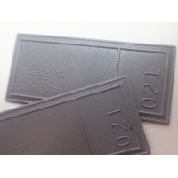 Cheap Washable Reflective Silver TPU Label Personalized Promotional Gifts for sale