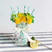 Cheap Simple Pattern Colored Paper Straws , Retro Paper Straws Environmentally Friendly for sale