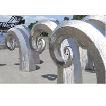 Public Art Large Metal Wave Sculpture , Outdoor Abstract Steel Sculpture for sale