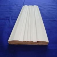 Cheap Environmentally Friendly Interior Wood Trim , White Wood Door Casing for sale