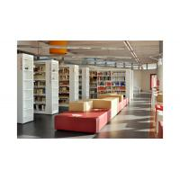 Cheap Cultural center Study Architecture project design by White wood bookcase and Reading desk for sale