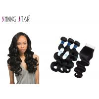 Cheap Tangle Free Unprocessed Virgin Remy Indian Hair / No Acid Unprocessed Indian Remy Hair for sale