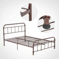 Cheap Durable Steel Furniture Bed Heavy Duty Reinforce Frame For Dormitory for sale