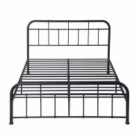 Cheap Modern Black Durable King Size Metal Bed , Iron Bed Frame King For  Home for sale