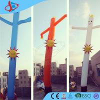 Cheap Rip - Stop Inflatable Advertising Signs / Inflatable Air Dancer With Nylon Cloth for sale