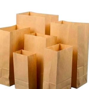 Cheap FSC Biodegradable 70gsm Paper Bread Bags for sale