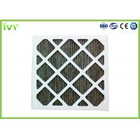 Cheap Folded Activated Carbon Air Filter High Carbon Content With Aluminum Mesh Face Guard for sale