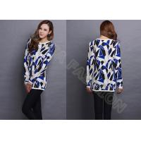 Womens cowl neck jacquard sweaters long pullover in contrast color