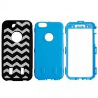 Cheap Black & White Wave Pattern PC & Silicon Back Cover Combo Case Iphone 6 Shell for sale