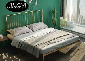 Cheap High End Iron Pipe Furniture 1.0mm Double Platform Bed Frame for sale