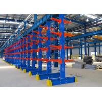 Cheap Extra Heavy Duty Cantilever Storage Rack With Blue Orange Powder Coating for Lengthy Cargo for sale