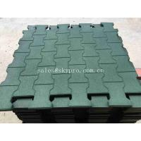 Cheap Driveway Rubber Patio Pavers / Anti - Slip Recycled Rubber Flooring Thickness 15-100mm for sale