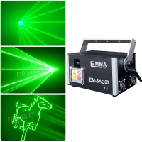 Cheap High power 3000mw single green Animation Dj Laser Performer laser stage lighting, 3 Watt Laser ILDA for sale