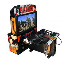 Cheap Rambo Electronic Coin Operated Indoor Arcade Video Simulator Gun Shoot Game Machine with 2 players for sale