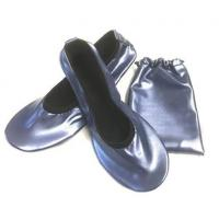 Cheap China Wholesale Navy Blue Roll Up Driving Shoes with Printing Logo in a Bag for sale