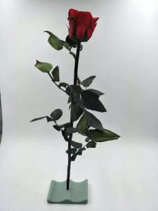 Cheap christmas ornaments long stem real touch natural flowers preserved roses for sale