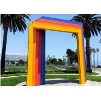 Cheap Custom Painted Metal Sculpture , Modern Gate Sculpture For Garden Landscape for sale