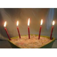 Diameter 0.5cm Glitter Birthday Candles For Festival , Red Brown Long 7.4cm Manufactures