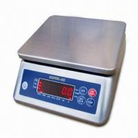 Cheap Stainless Steel Waterproof Weighing Scale with 600 to 30kg Capacity and 1/7500p Display Resolution for sale