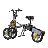 Cheap Three Wheel Foldable Electric Scooter , Electric Powered Bicycle 4-5h Charger Time for sale