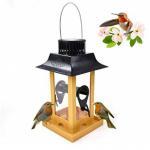 Cheap Solar Parrot Feeder LED Light Bird Feeder Station Hanging Pigeon Crow Parrot Outdoor Balcony Bird Feeding for sale
