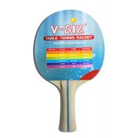 Stripe Color Handle Standard Size Table Tennis Bats With Plywood Yellow Sponge