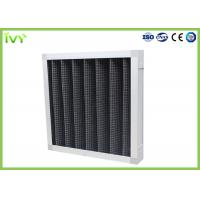 Cheap Active Carbon Replacement Air Filter 800 - 3200 M³/H Rated Air Flow Panel Odor Remover for sale