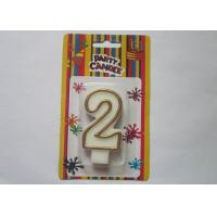 OEM Fancy Number 2 Birthday Cake Candle / Anniversary Party Wax Candles Manufactures