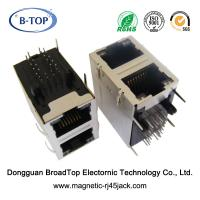 Buy cheap Dual Port Magnetic RJ45 Jack 1 - 1.5A High Performance With Bicolor LEDs from wholesalers