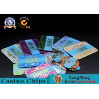 Cheap Marble Acrylic Crystal European Casino Poker Chips / Wear Resistance Casino Jetons for sale